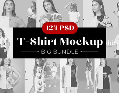 75% OFF Sale Woman T-shirt Mockup Bundle