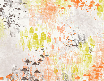 Mushroom Brush + Texture iPad Sketches (part one)