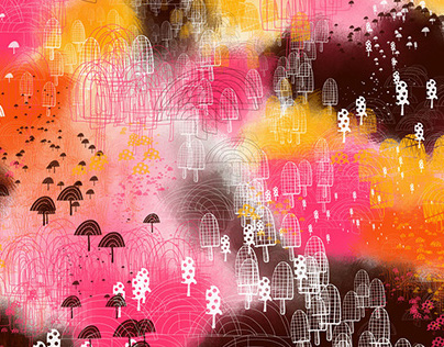Mushroom Brush + Texture iPad Sketches (part two)