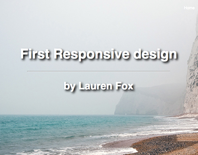 First Responsive Design