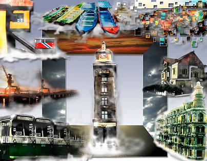 collage, game kinect valparaiso patrimonial set, chile