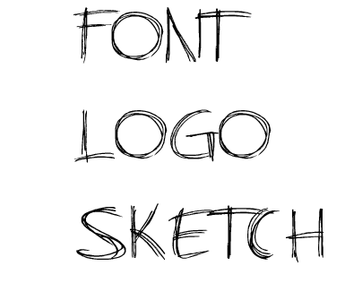 Font Logo Sketch