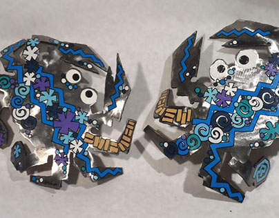 Polished Steel Blue Crabs