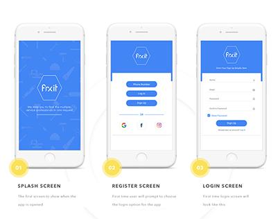 Fixit App UI Design Idea