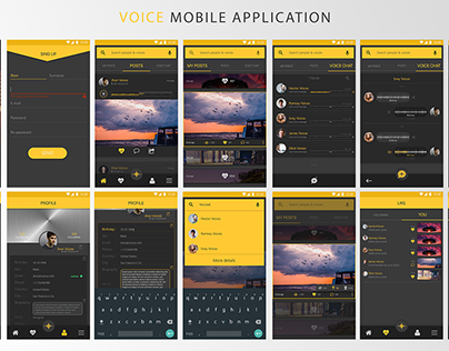 Voices Mobile Application Design