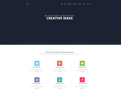 Free PSD Homepage Layout with Full-width Slider