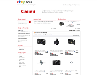 Canon Outlet UK eBay Store Front