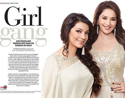 Madhuri & Juhi for Filmfare