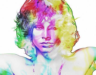 Jim Morrison Psychedelic