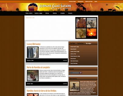 Diseño Grafico y web MopaneSafaris