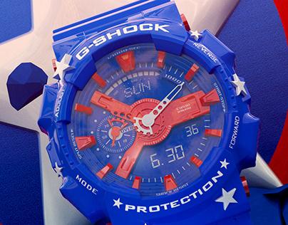G-Shock - Captain America - 3D Motion Design