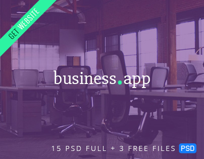Free Business.app - Responsive PSD Template