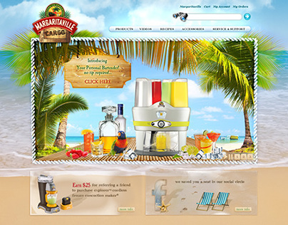 Margaritaville Cargo Website