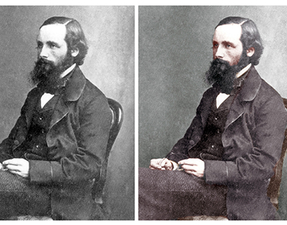 Colorisation of a photograph of James Clerk Maxwell