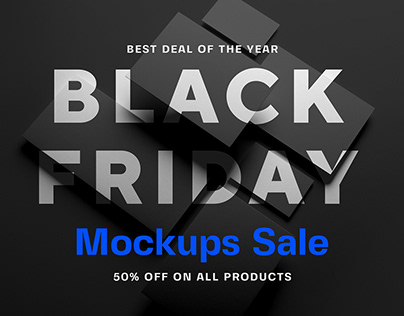 Black Friday Mockups Sale