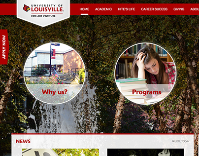 Hite Art Institute Website Redesign