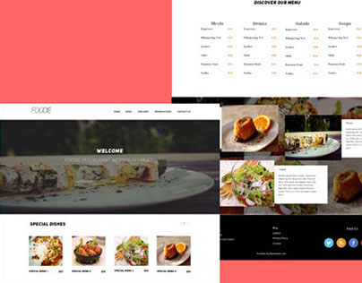 Foodie – Free Restaurant PSD Home Page Website Template