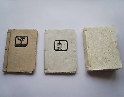 First three handmade books