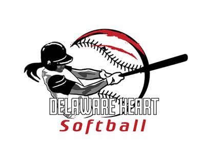 Delaware Heart Softball Logos