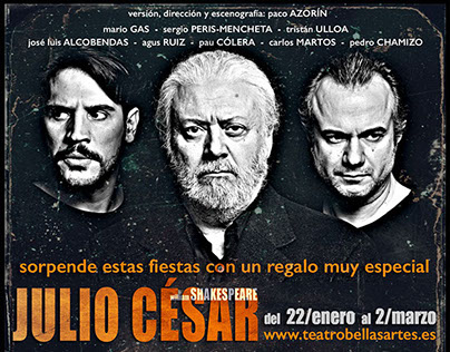 "Theater: ""JULIO CÉSAR"", by William Shakespeare"