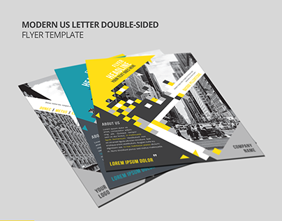 Modern US Letter Double-Sided Flyer Template