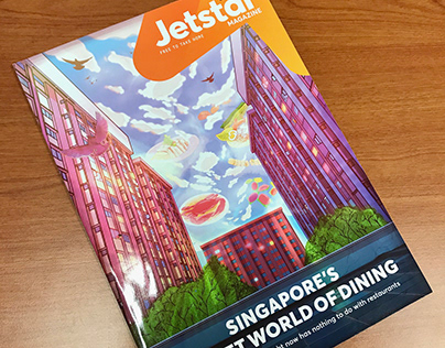 Cover Illustration for Jetstar