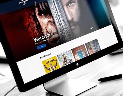 Universal Pictures Website Concept