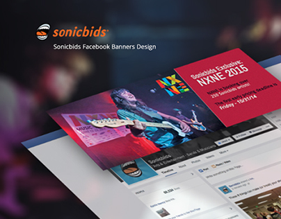 Sonicbids Facebook Cover Design