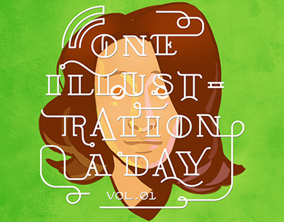 2014 / One illustrationa day – illustration book