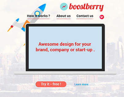 Digital Media Studio - Boostberry ,landing page design
