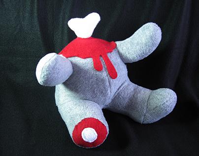 Headless teddy bear - stuffed plush by TOTAL LOST.