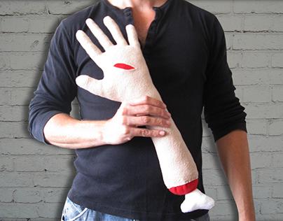 OOAK stuffed arm by TOTAL LOST.