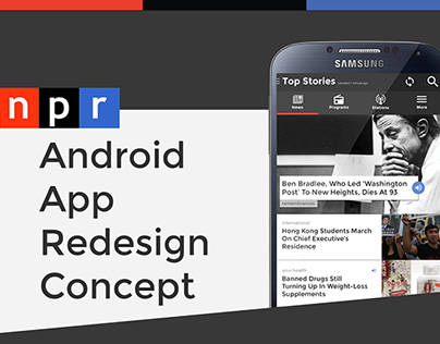 NPR Android App Redesign Concept