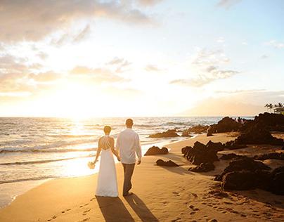 Po'olenalena Beach Wedding, Sophie and Martin