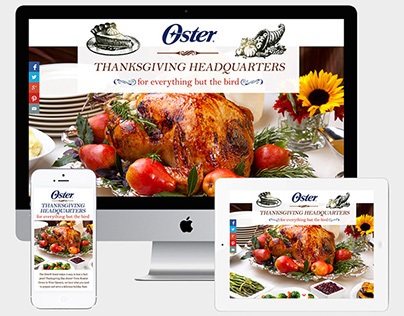 Oster Thanksgiving Splash Page