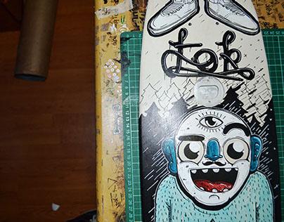 Fok X Upper Echelon Skate Board Deck