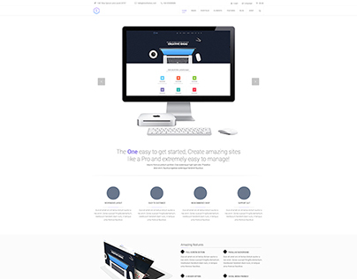 Free PSD Clean Homepage layout
