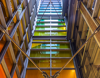 Color Gradient Stairwell