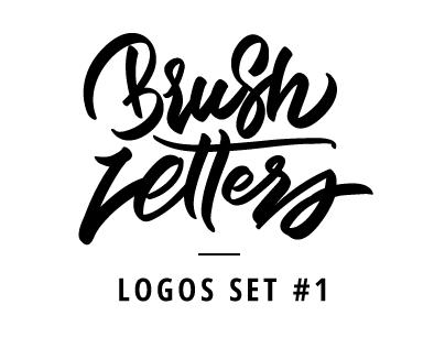 Brush letters - Logo set #1