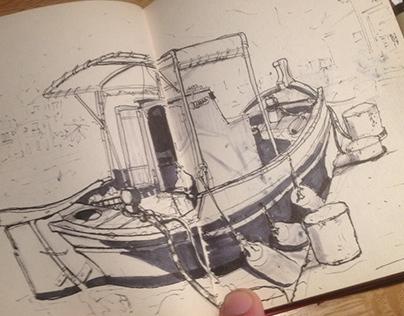 Outdoor Sketches 2014 - Kastelorizo Greece