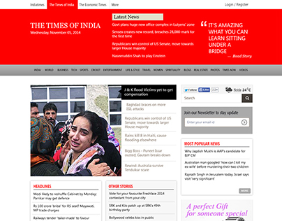 Times of India Redesign Concept
