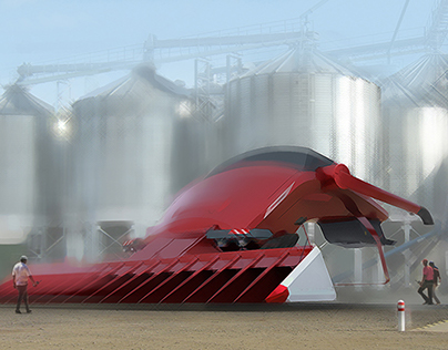 Concept of the future, harvester combine