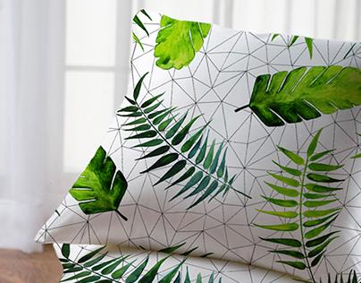 modernist jungle pattern