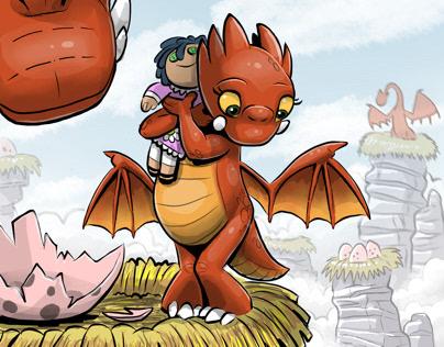 Fresco: Dragon afraid to fly