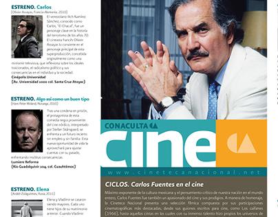 Cineteca print design for newspapers