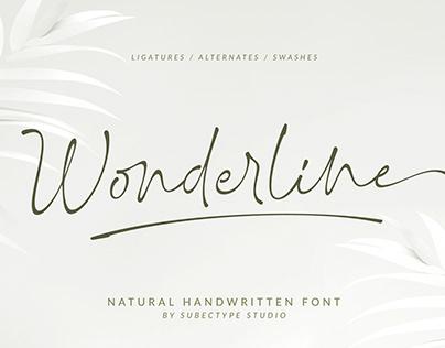 Wonderline / Handwritten Font