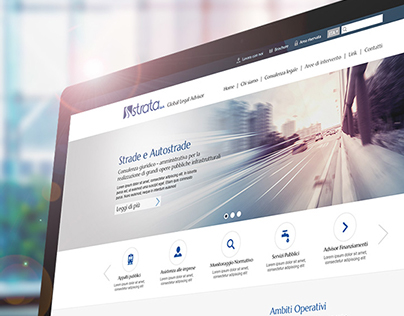 Institutional Web Site for STRATA, Web interface Design