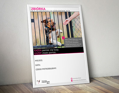 Posters for Animal Shelter in Korabiewice
