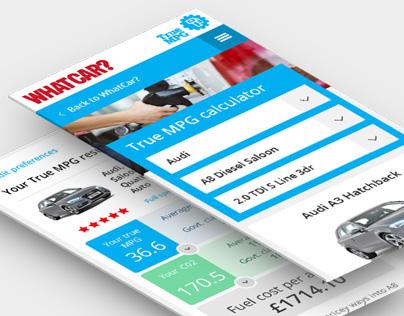 Whatcar? TrueMPG website design