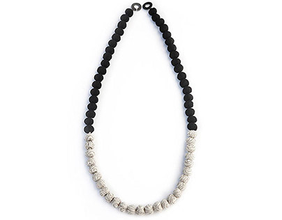 B&W Necklace and Earrings